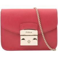 FURLA芙拉 女士锁头链条斜挎小方包 红色
